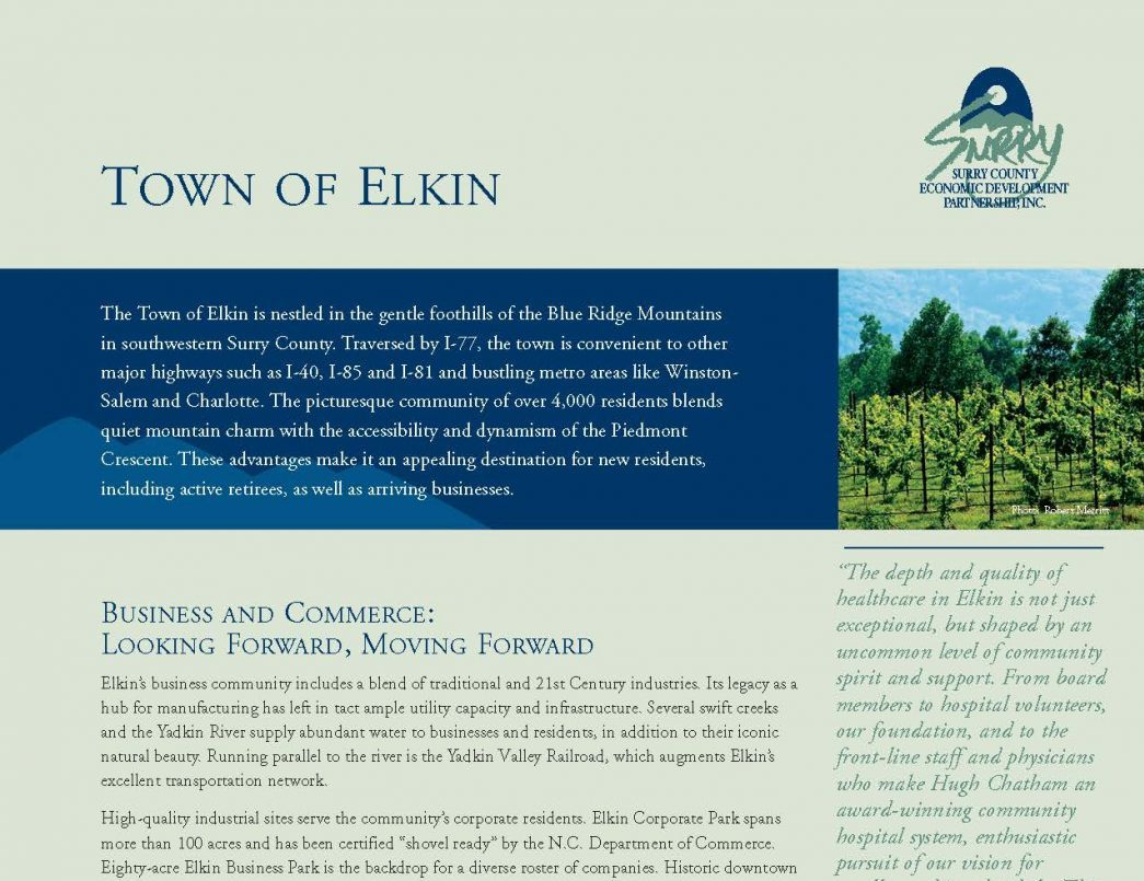 Elkin Brochure