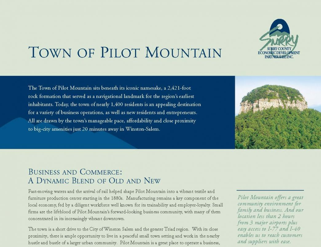 Pilot Mountain Brochure